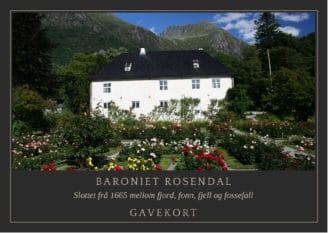 Gavekort Baroniet Rosendal konserter teater foredrag underholdning ferie opplevelser