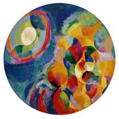 Kunstutstilling på Baroniet Rosendal 2017: Robert Delauney (1885-1941) : Sun, Moon, Simultaneous 2. Paris 1913.