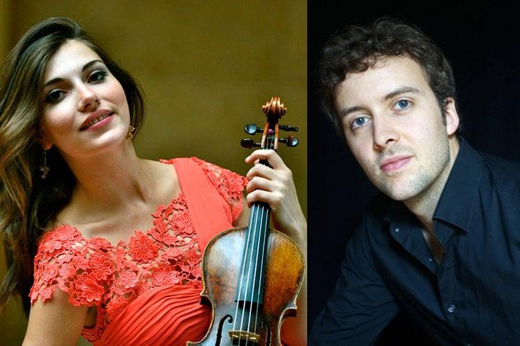 Julia Tishchenko, fiolin og Joachim Carr, klaver på Baroniet Rosendal