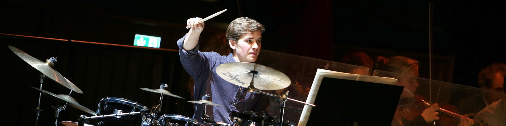 Christian Krogvold Lundqvist, percussion, at Rosendal Chamber Music Festival