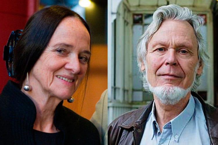 Elisabeth Aasen, forfattar og Gunnar Skirbekk, professor em. Foredrag på Baroniet Rosendal.