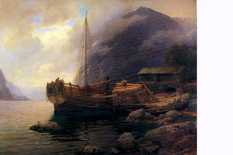 Hans Gude fjordlandskap